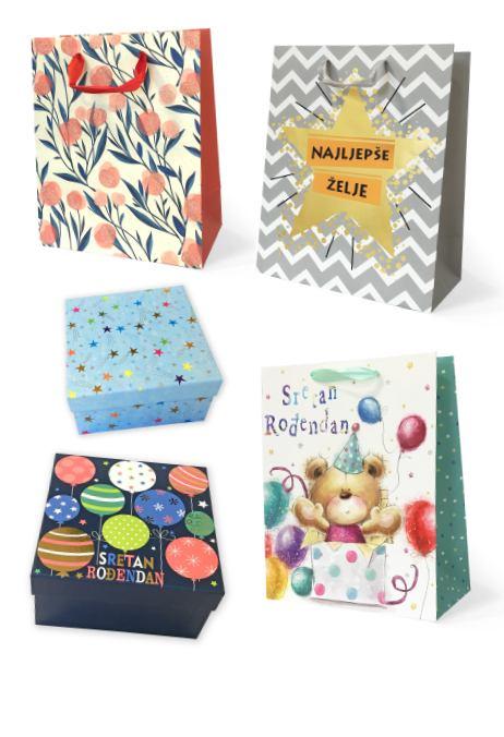 Vrećice, papiri i kutije